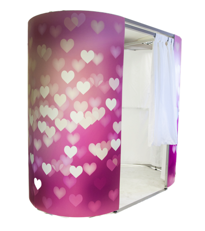 photo booth hearts design