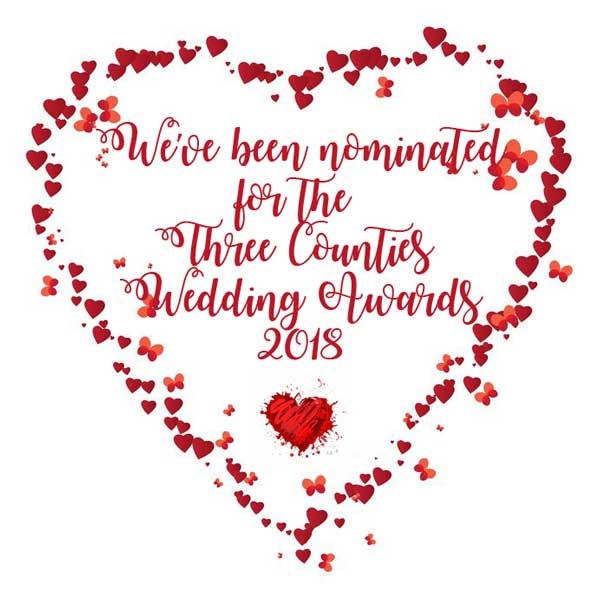 We've been nominated for the Three Counties Wedding Awards 2018